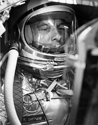 Alan Shepard, the first American in outer space