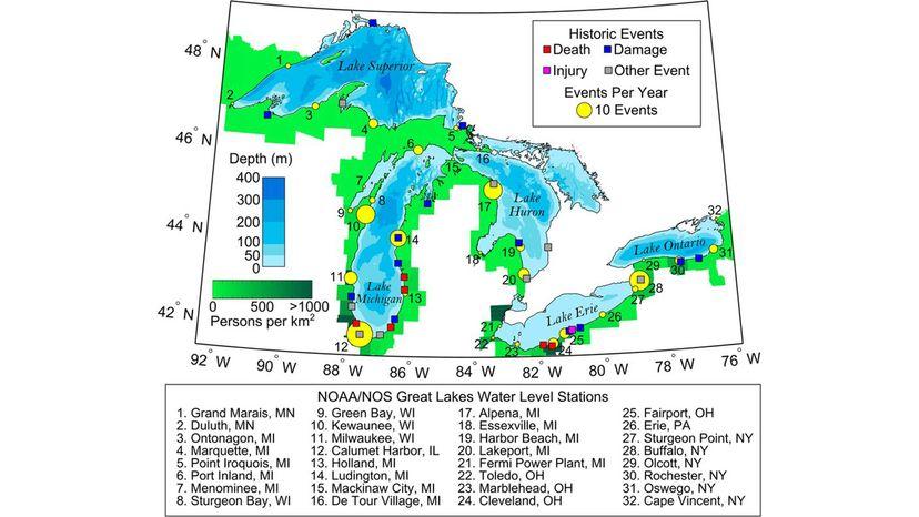 meteotsunamis in Great Lakes