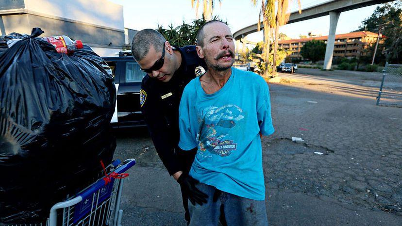 homeless man, meth user