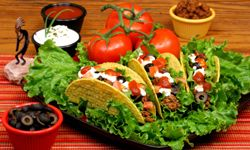 Color is the name of the game at a Mexican dinner party.