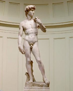 David Michelangelo's identification with the Old Testament figure, as well as his self-appointed role as champion of the new Florentine Republic.