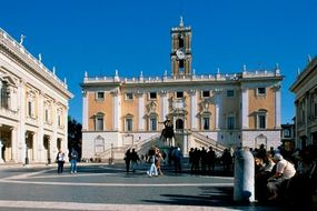 A closer look at Palazzo dei Senatori (begun 1538).