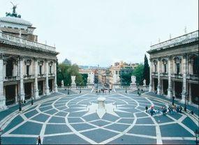 Piazza del Campidoglio pavement design (begun 1538).