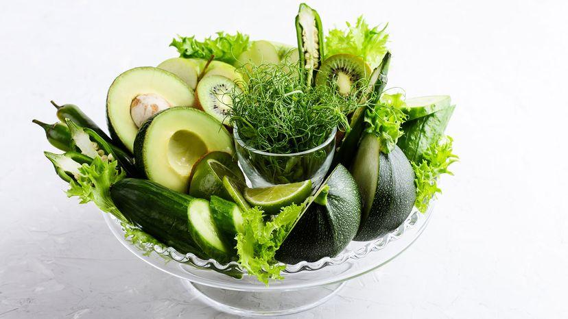 microgreens, avocado, kiwi, cucumber