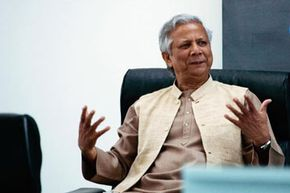 2006 Nobel Peace Prize winner, Bangladeshi economist and microfinance pioneer Mohammad Yunus.