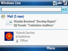 Windows Live e-mail programs let users view e-mail messages on their mobile device such as smartphones or cell phones.