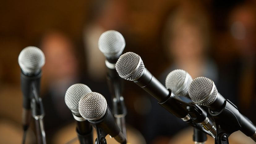 a group of microphones