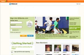 You can sign up for an account on the MiGente home page. See more pictures of popular web sites.