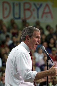 """During the 2000 campaign, Texas governor George W. Bush became known as """"Dubya."""""""