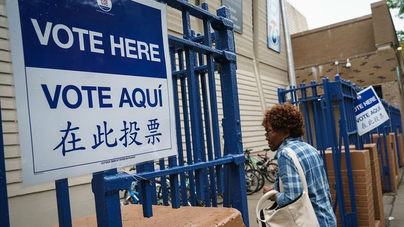 voting in primary election, New York City