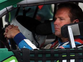 Mike Wallace at NASCAR Winston Cup Series Pennsylvania 500 at Pocono Raceway in Long Pond, PA, July 2002.