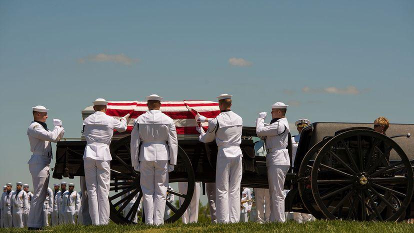 full military honors, Navy