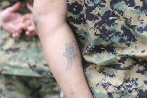Tattoos aren't off limits for U.S. military members, but there are some restrictions.