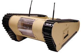The 61-pound (28-kg) MATILDA robot can tow up to 475 lbs (215 kg).