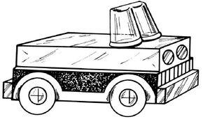 Box car with milk jug lids as wheels
