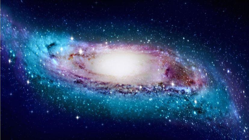 Artist's impression of warped Milky Way galaxy