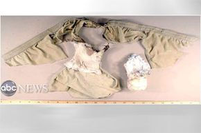 The pair of underwear that changed airport security in December 2009. Obviously you can spot the packet of powder removed from Abdulmutallab's briefs.