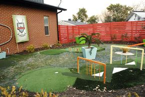 A miniature golf course outside of the Graham family's new home in Augusta, Ga. in 2011.