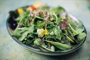 Leafy greens are a great source of folic acid.