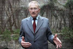 Canadian farmer Percy Schmeiser gestures during an interview in New Delhi in 2007. Since losing a series of court battles with Monsanto, Schmeiser has been travelling the world speaking against genetically modified crops and patenting seeds.