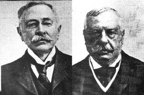 Aside from being white guys with mustaches, Adolf Beck (left) and Frederick Meyer didn't actually look all that similar.