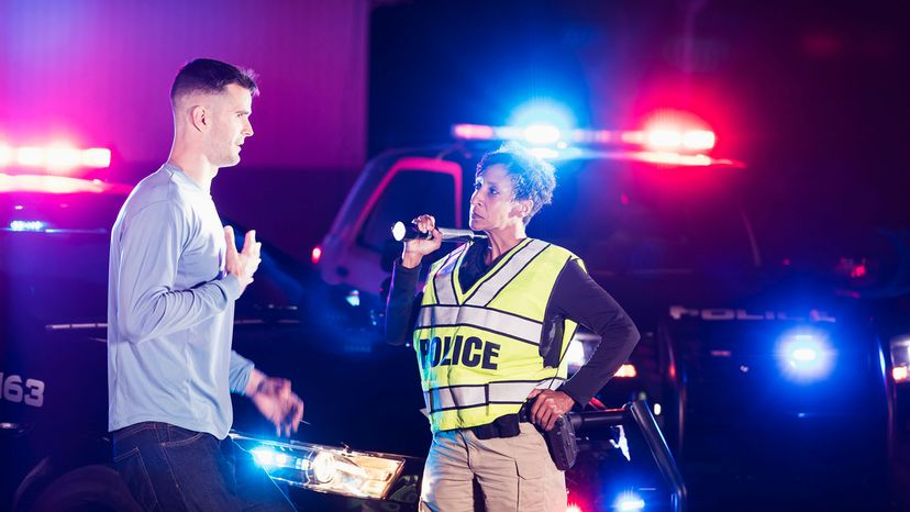 police questioning suspect