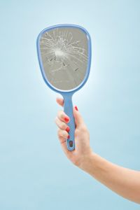 According to superstition, a broken mirror like this one can lead to seven years of bad luck.