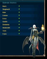 The realm status list for MMORPG Lineage II