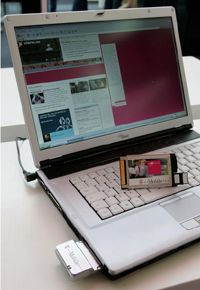 Most mobile broadband services require the use of a card, that allows users to access the Internet.