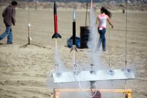 Current model rockets are much safer than classic versions, and are made from lightweight materials and using simple motors.