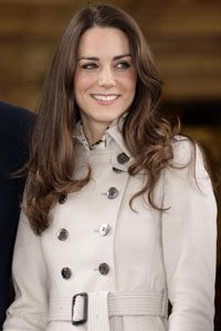 Kate Middleton, seen here sporting a classic trench coat, is already a style icon.