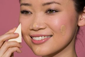Triangular makeup sponges are perfect for foundation application.