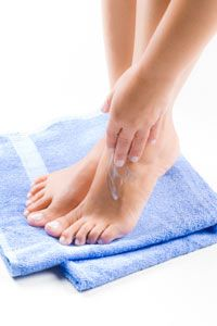 Beautiful Skin Image Gallery Moisturize feet to prevent dryness, itching and cracking. See more pictures of ways to get beautiful skin.