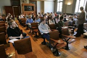 Thanks to MOOCs, you too can take a class at Princeton University, just like these undergraduates. See more internet connection pictures.