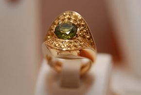 Not a mood ring, but if it were, the green hue would represent an average mood.