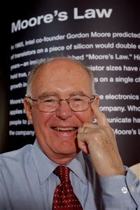 Gordon Moore at Intel's headquarters