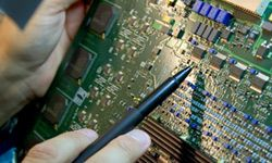 Today's circuit boards have millions of transistors.