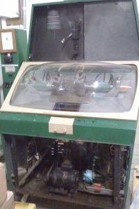 The vintage Mold-A-Rama before its refurbishment and transformation into the Roto-a-Matic