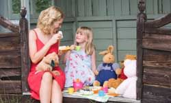 Invite your daughter -- and a few of her fuzzy friends -- to a tea party.