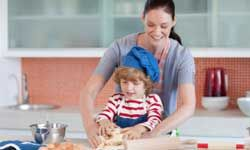 Encourage your child to try his hand in the kitchen.