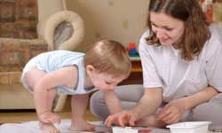 Image Gallery: Parenting Fingerpainting is a fun activity for moms and tots. See more pictures of parenting.
