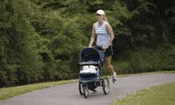 Stroller jogging is a great way to lose some baby pounds.