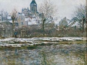 Claude Monet's Church at Vétheuil with Snow is an oil on canvas (20-7/8x28 inches) that is housed in the Musée d'Orsay in Paris.
