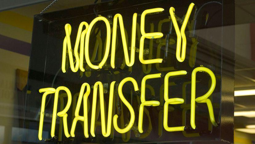 money transfer sign