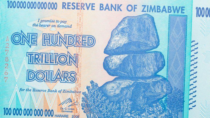 hundred trillion dollar note, Zimbabwe