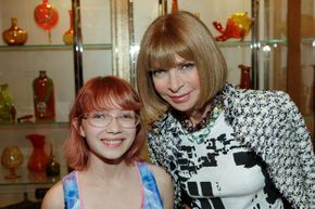 Blogger Tavi Gevinson (left) posed for a photo with Vogue editor-in-chief Anna Wintour back in 2010 when she was all of 14.