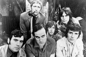 The Monty Python sketch comedy group circa 1970.