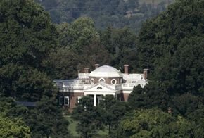 Monticello is secluded by nature, giving Jefferson the privacy he craved.