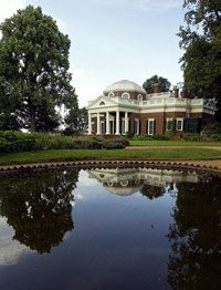 The pond on Monticello's lawn stored live fish for food.