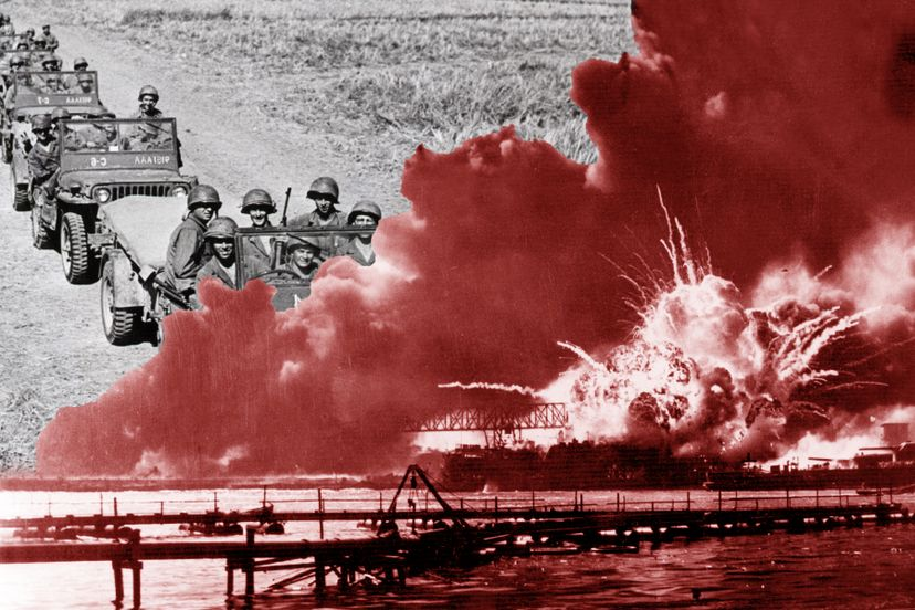 Thousands of people died in the Pearl Harbor attack, which rendered the Japanese attack on Manila the next day (with 100 people killed) much less memorable. Bettmann/Keystone/GettyImages